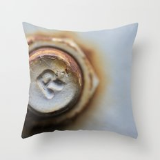 R Bolted Throw Pillow