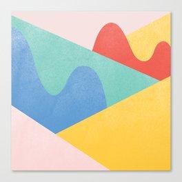 Mountains Bumps Canvas Print