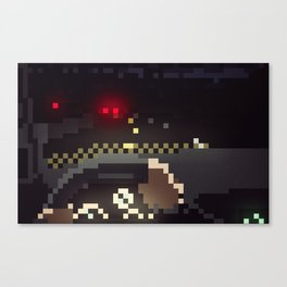 Night Drive Pixels Canvas Print