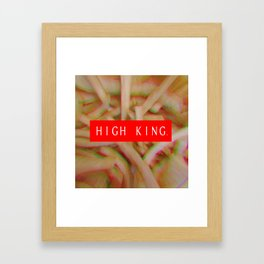 HIGH KING FRENCH FRIES Framed Art Print