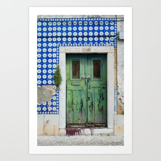 DOOR, LISBON, PORTUGAL Art Print