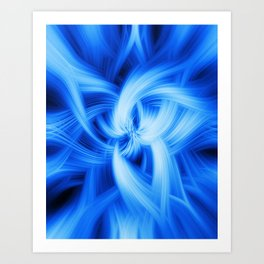 Blue Vortex Art Print