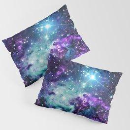 Fox Fur Nebula : Purple Teal Galaxy Pillow Sham