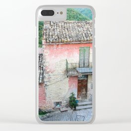 Old house in the Umbria countryside, Italy Clear iPhone Case