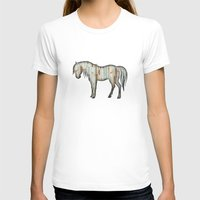 wooden T-shirts featuring Wooden horse by Vin Zzep