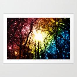 Dark Rainbow Nights Art Print