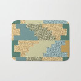 Shapes and dots Bath Mat
