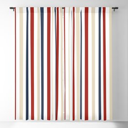 Primarily Pinstripes Blackout Curtain