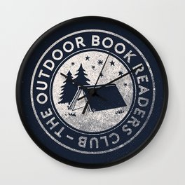 Outdoor Book Readers Club badge Wall Clock