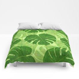 Monstera Tropical Leaf Comforters