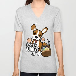 Beagle Easter Funny for Boys Girls Love Dog Puppy Unisex V-Neck