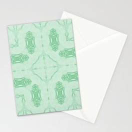 Mint Green Ornate Pattern Stationery Cards