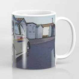 Southend on Sea Beach Huts Homage Coffee Mug