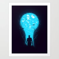 bright Art Prints featuring Bright Side by nicebleed