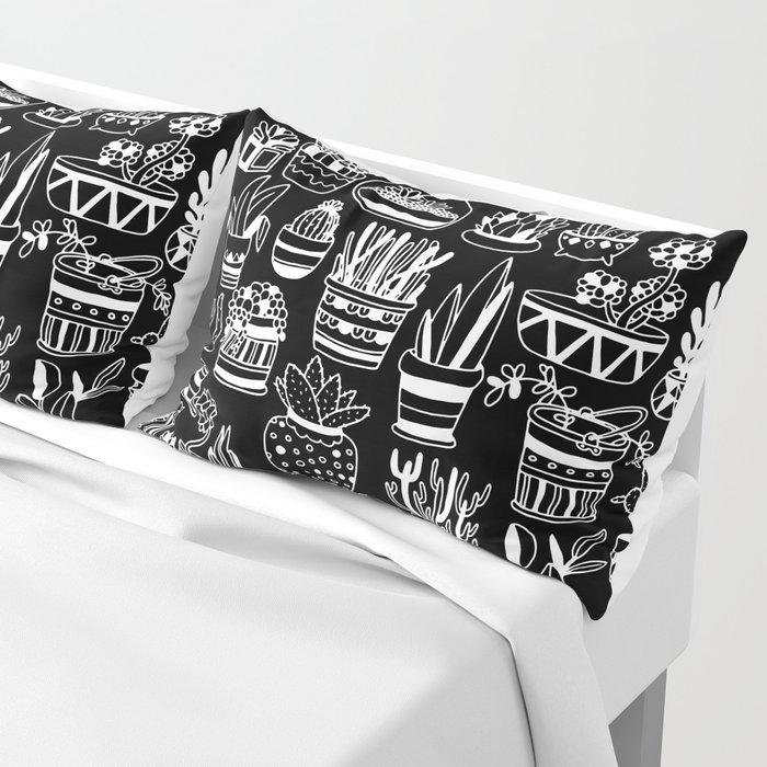Succulent Party (Night Version) Pillow Sham