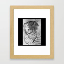 God holding our Roots Framed Art Print