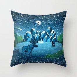 Fireflies Like Stars Throw Pillow