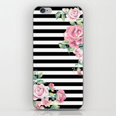 Floral Stripes iPhone & iPod Skin