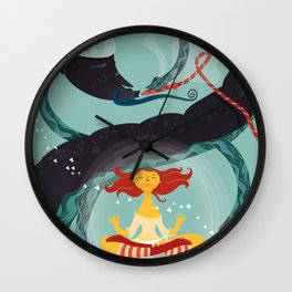 Alice in Wonder-zen (illustration 1) Wall Clock