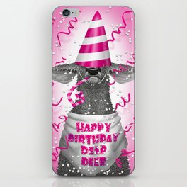 Happy birthday dear deer iPhone Skin
