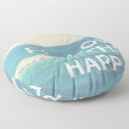 Follow the Happy Floor Pillow