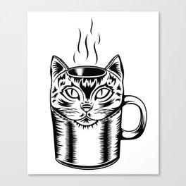 Coffee Cat Canvas Print