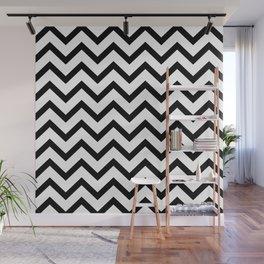 Black and white horizontal stripes monochrome pattern Wall Mural