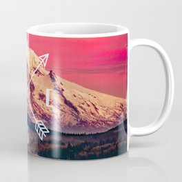 Snowy Mountain Compass Coffee Mug
