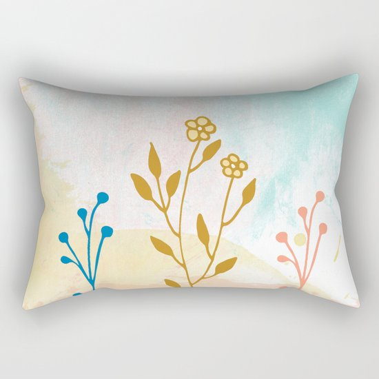 Acuarela flower Rectangular Pillow