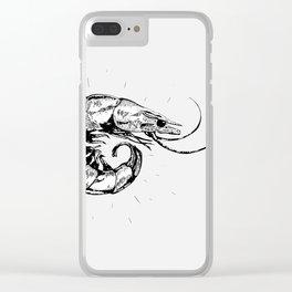 Vintage Shrimp Clear iPhone Case