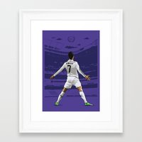 ronaldo Framed Art Prints featuring Cristiano Ronaldo by KieranCarrollDesign