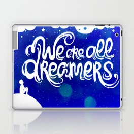 Ocean Blue Dreams Stars Inspirational Quote Laptop & iPad Skin