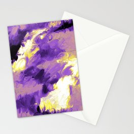 Nonbinary Pride Textured Abstract Paint Wave Stationery Cards