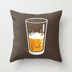 Pessimistic Optimist - alt version Throw Pillow