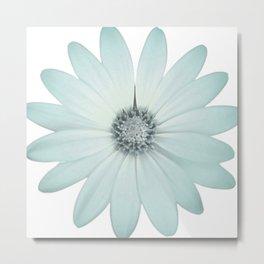 Blue Boho Daisy Metal Print