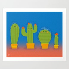 The littlest cactus Art Print