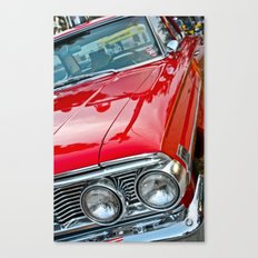 Red Ford Custom 500 Galaxie Police Car Canvas Print