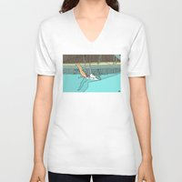 diver V-neck T-shirts featuring Diver by Highly Anticipated