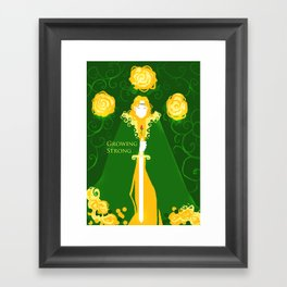 Grow Strong Framed Art Print