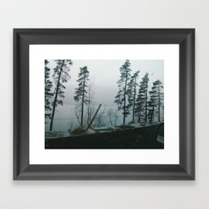 Lakes and Trees Framed Art Print