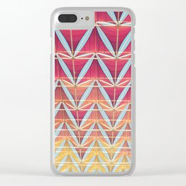From pink to yellow pattern Clear iPhone Case