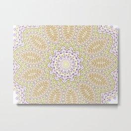 Purple pattern Metal Print