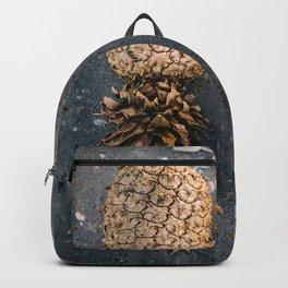 Gold Pineapple Print Backpack