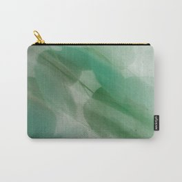 Fleur Blur Series-Abstract Eucalyptus Leaves Carry-All Pouch