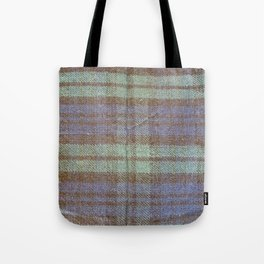 Blue & Green Check Tote Bag