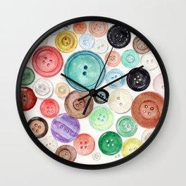 Buttons! Wall Clock