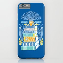 Happiness is Coffee and Books iPhone Case
