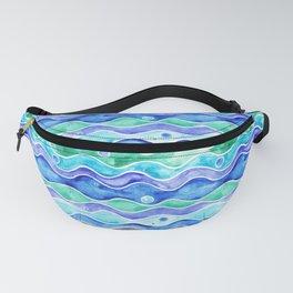 Ocean Pattern - Dolphin Fanny Pack