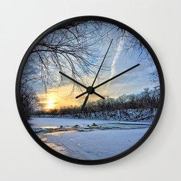 A January Morning Wall Clock
