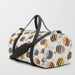 Sweet little baby bees watercolor illustration Duffle Bag